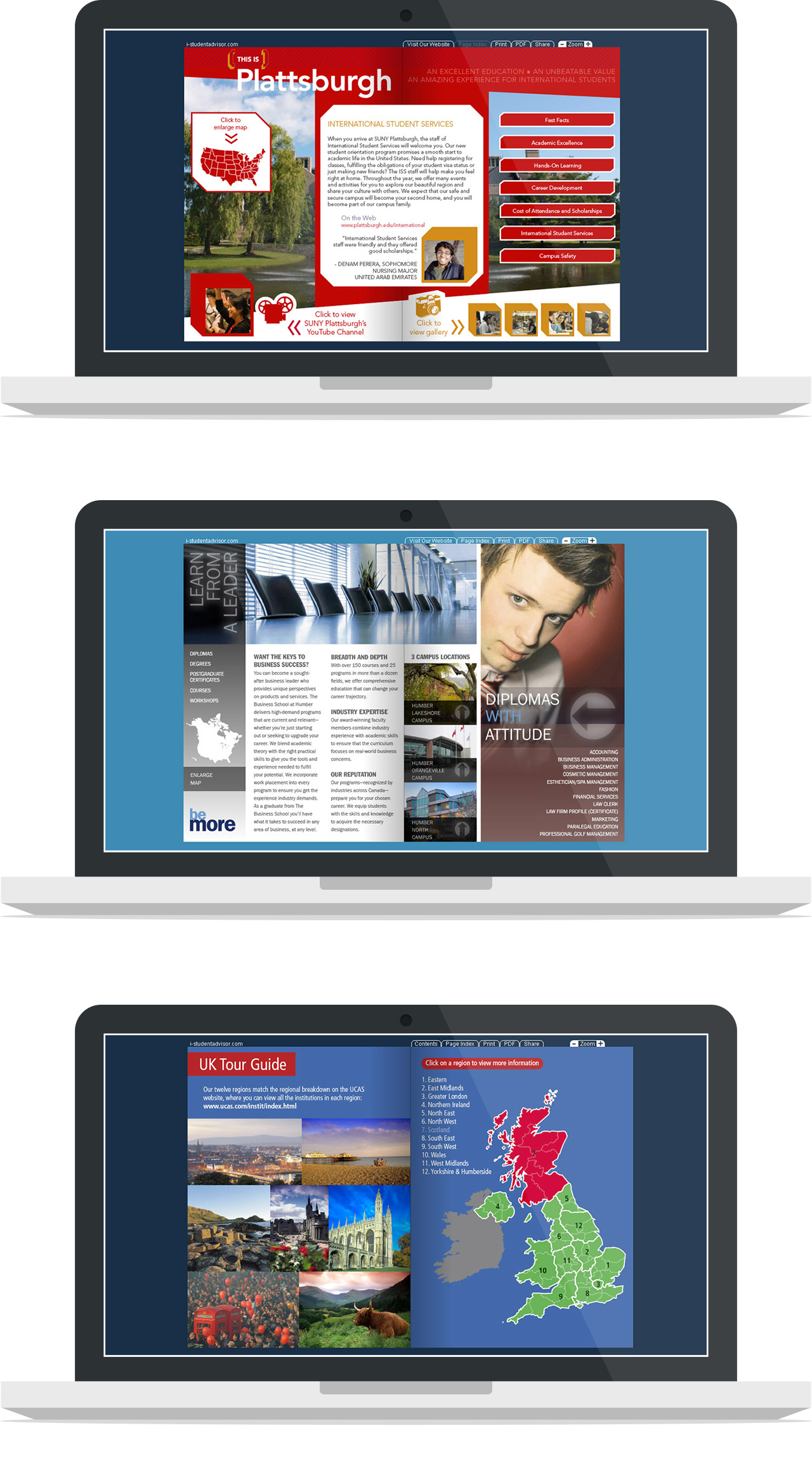 Arusha elworthy creative ux designer for Interactive brochure design